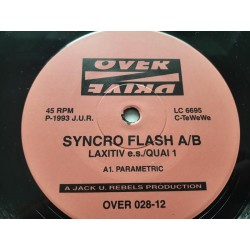 "Syncro Flash A/B ‎– Laxitiv E.S. / Quai 1 (12"")"